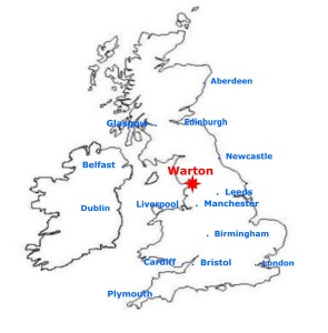 Warton, centre of the UK (almost!)